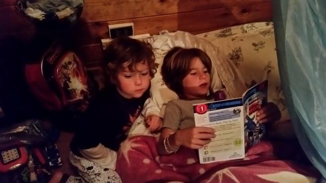 Jovani reading to Judah