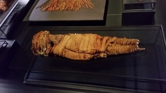 The child mummy we saw at the museum in Santiago, we saw another in Arequipa