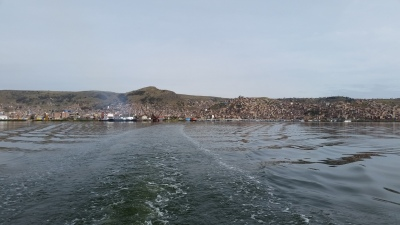 A view of Puno from the boat