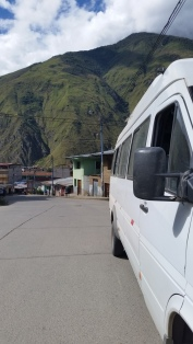 Our van stopped in Santa Teresa