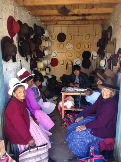 I love this hat shop. All the locals have these awesome hats, they come to this shop to have them handmade
