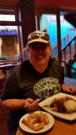 Andrea is eating Alpaca tenderloin!