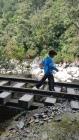 Judah braved even the railroad bridges